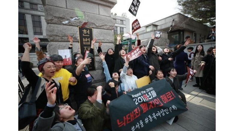 South Korea's Constitutional Court orders abortion ban be scrapped by end of 2020 The Constitutional Court ruled Thursday that the country's