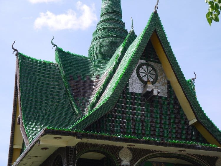 This Thai Temple Was Built Using 1.5 Million Beer Bottles