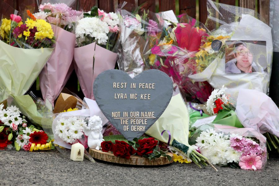 Two teens held after killing of N. Irish journalist Two teenage men have been arrested after the shooting dead of a journalist in Northern Ireland, police