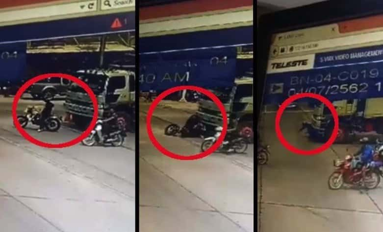 Video: NEVER stop in front of a truck