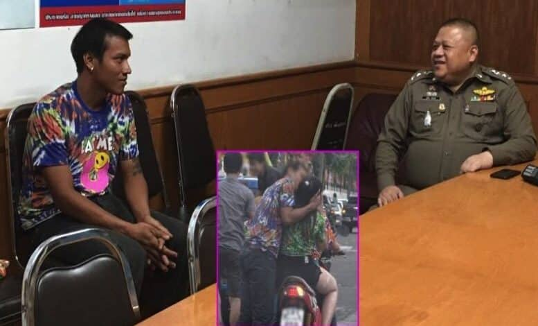 "When ""Mr Lustful"" met the cops - it's all smiles but the charge could be serious. A Songkran reveller dubbed ""Mr Lustful"" in the media was soon in custody"