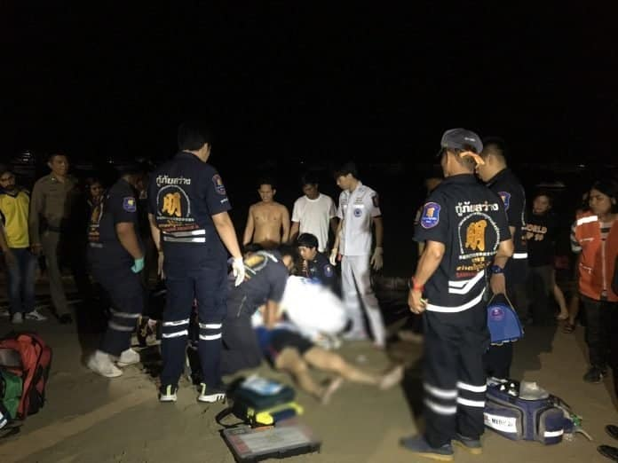 Attempted murder on Pattaya Beach? Chinese tourist in hospital