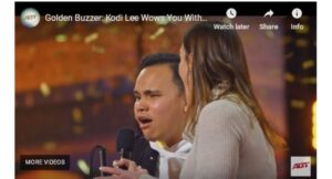 """Blind and autistic singer gets Golden Buzzer in 'America's Got Talent'. A blind and autistic young singer gets a Golden Buzzer in """"America's Got Talent"""""""