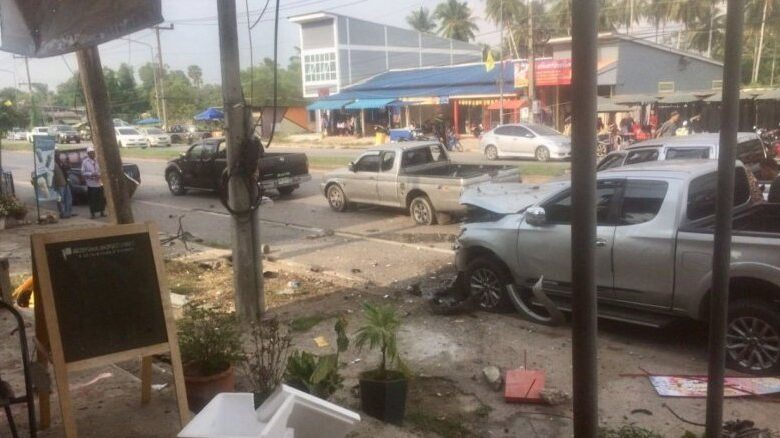 Bomb explodes in local food market, 2 dead. Two people were killed and FOURTEEN others, including four rangers, were injured in a motorcycle bomb