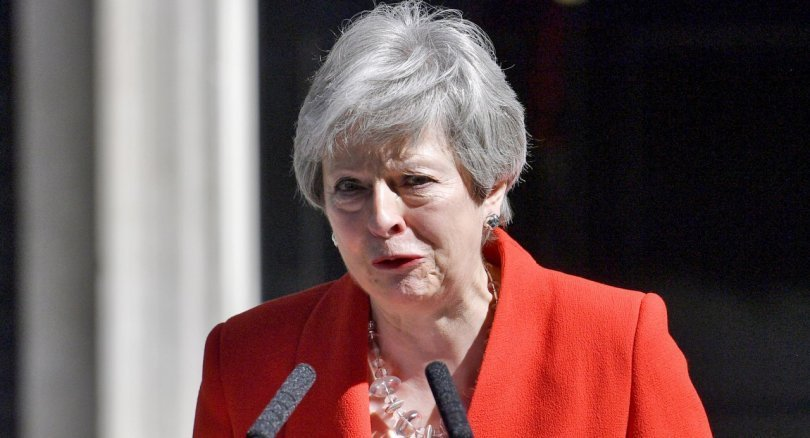 Watch : British PM May announces resignation in emotional speech