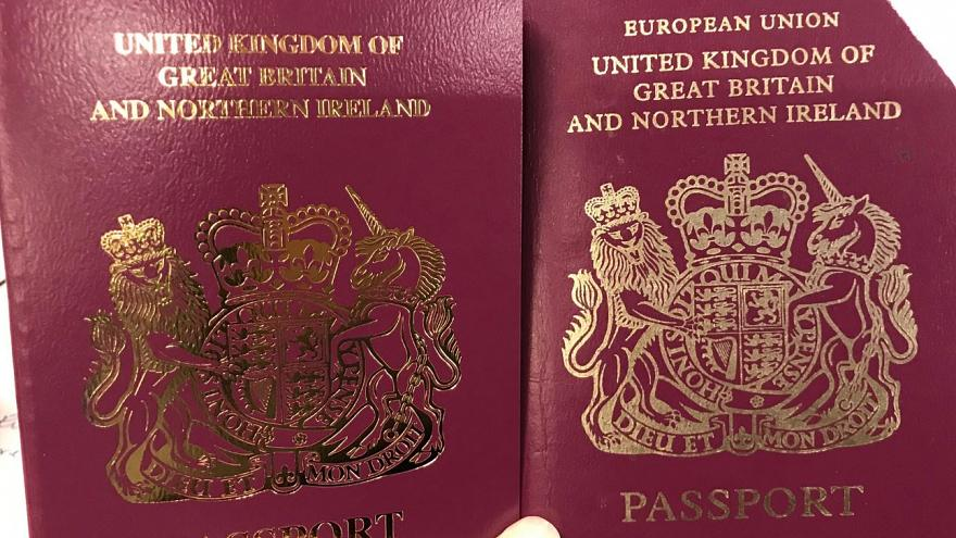 British passports have removed the words 'European Union'
