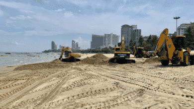 City Officials admit that after every major storm they will need to repair the beach. Pattaya again has been patching huge holes