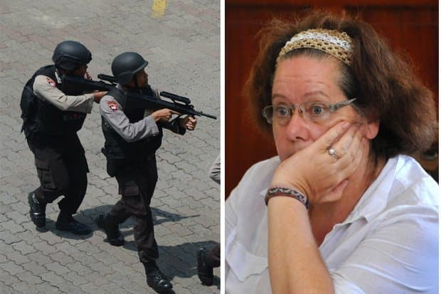 "Death Row Brit is ready for the FIRING SQUAD in Bali. The British death row gran facing a firing squad in Bali for drug smuggling has said she ""just wants"