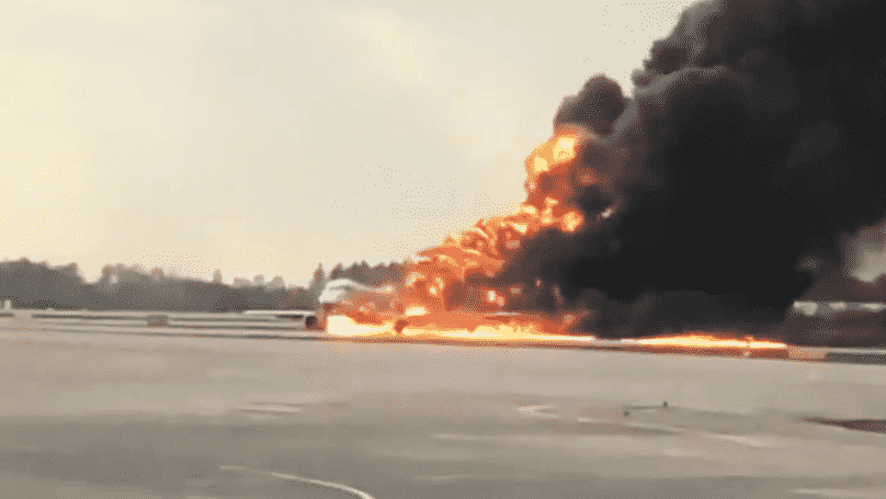 Footage Emerges Of Plane Crash Landing On Fire At Russian Airport. Dramatic footage has emerged that shows the moment a plane crash landed