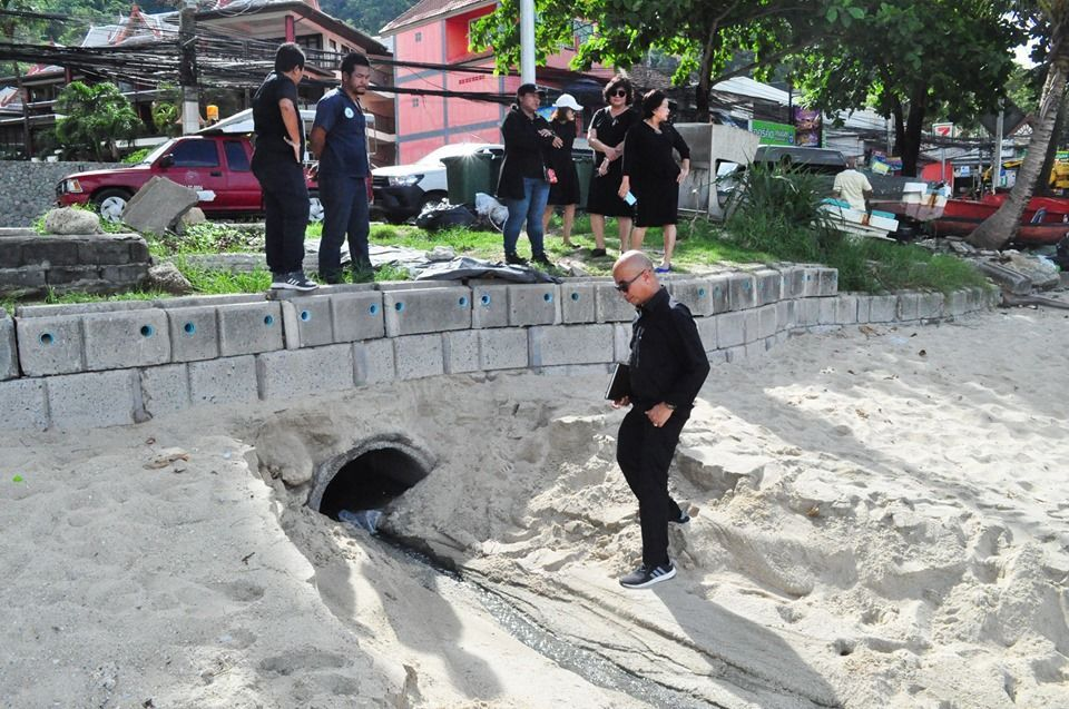 Kalim hotel for wastewater on beach