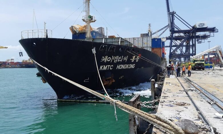 Laem Chabang Port fire damage exceeds Bt100m. LOSSES from the huge fire and chemical spill at Laem Chabang Seaport in Chon Buri province on Saturday are
