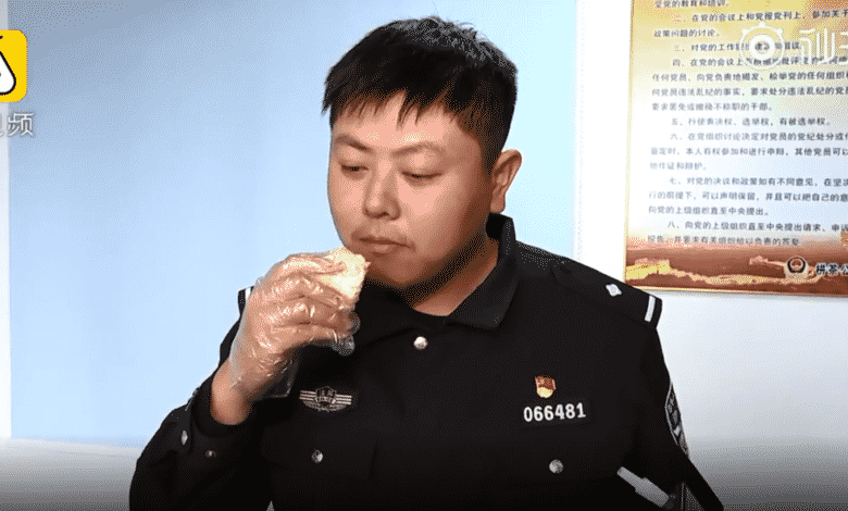 Man eating Durian FAILS breathalyser test. A Chinese man who had an unlikely indulgence on a night out was captured on video desperately trying to prove he