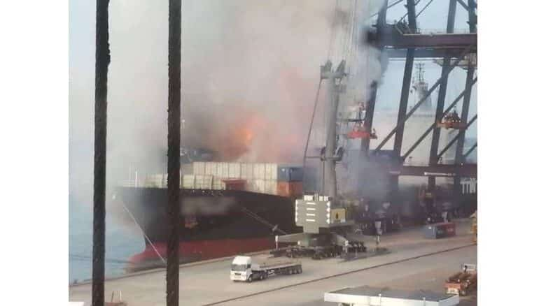 Update: No evidence of dangerous chemicals at port blaze site. Preliminary investigations have not found any toxic chemicals at Laem Chabang Port, which