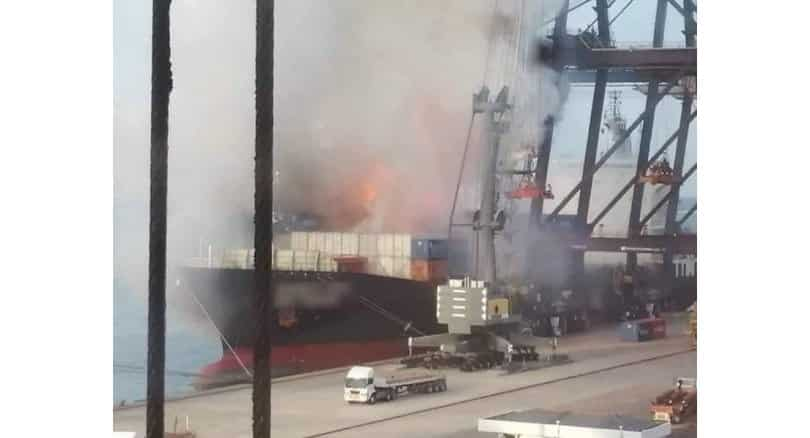 Update: No evidence of dangerous chemicals at port blaze site