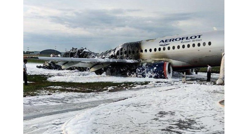 Pilot says lightning caused deadly Russian crash landing. The pilot of a Russian passenger plane that erupted in a ball of fire on the runway of Moscow's