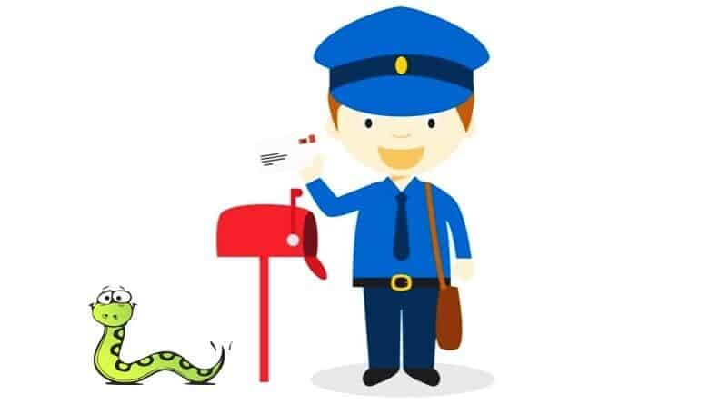 Postman helps chase away cobra from a customer's home. A story about a postman that helped chase a cobra away shared by the Thai Post Office Facebook