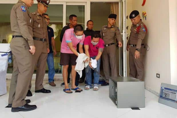 Robbery at Irishman's luxury Pattaya home, arrests made. Two men and a woman were arrested for alleged theft of over 400,000 baht at a foreigner's