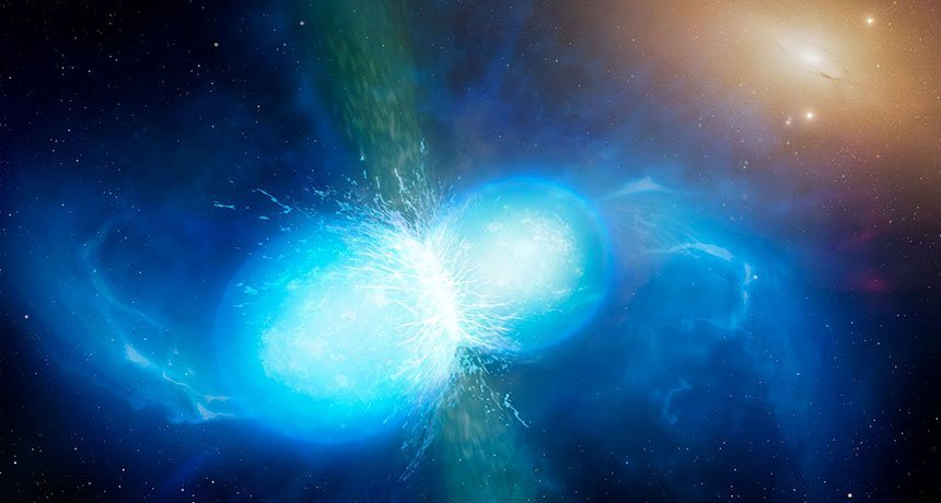 Scientists just observed a crash between two neutron stars