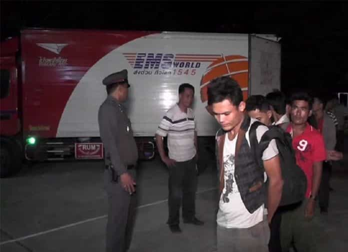THAI POSTMAN BUSTED SMUGGLING MIGRANTS IN MAIL TRUCK