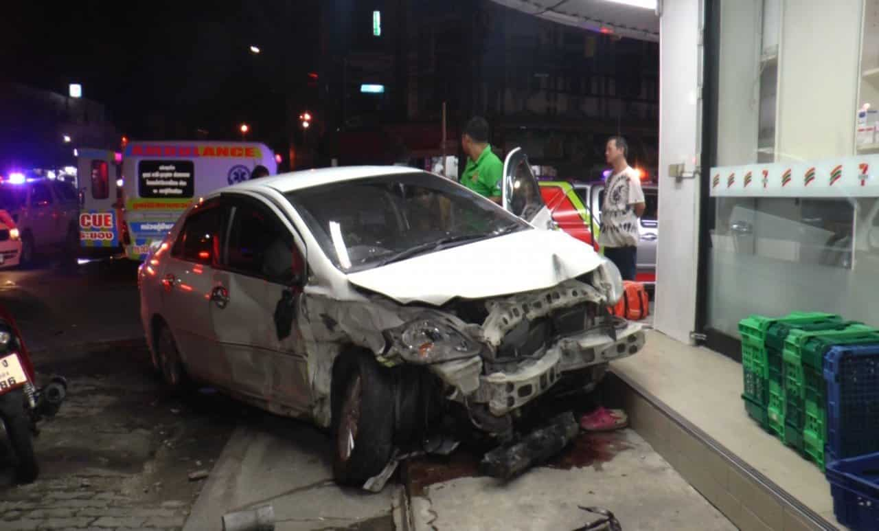 Three injured as sedans collide in Rayong. Three men were injured when two sedans collided at the Ban Chang intersection in Rayong province early on