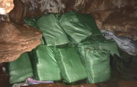 Tire tracks lead to 5.3 million Yaba pills hidden in Cave. 5.3 million Yaba pills were discovered in a Cave in Chiang Dao, Chiang Mai province. An official