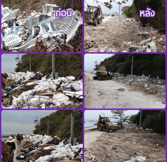 Two Koh Larn Beaches cleared of trash after social media outroar