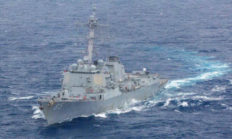 U.S warship sails into disputed South China Sea. The U.S. military said one of its warships sailed near the disputed Scarborough Shoal claimed by China in