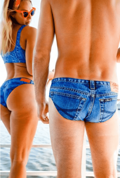 You Can Now Get Denim-Print 'Jeado' Swimming Briefs For Your Next Holiday. Speedos. Budgie smugglers. Theol' banana hammock. Look, fellas, you