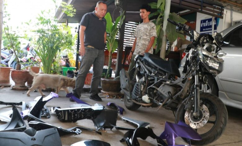Arrested father and son for Bangkok motorcycle robbery. Bangkok police have arrested a father and his son.Metropolitan Police commissioner Lt Gen