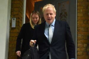 Brexit Boris heads to No 10 after LANDSLIDE first round win. BORIS Johnson is on course for No10 after a landslide win in the Tory leadership election