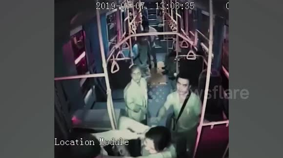 Bus Driver Attacks Woman Who Told Him To Stop Using Phone. This is the shocking moment a bus driver attacked a female passenger who asked him to stop