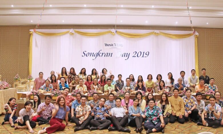 Dusit Thani Pattaya holds traditional Songkran celebration 2019. Dusit Thani Pattaya holds traditional Songkran celebration 2019