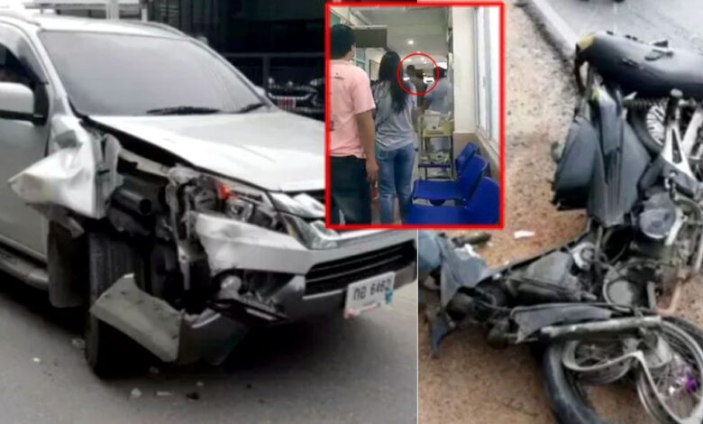 Face-slapping patient returns to same Rayong hospital, this time as road accident victim. The 21-year-old man who slapped a nurse at Rayong's