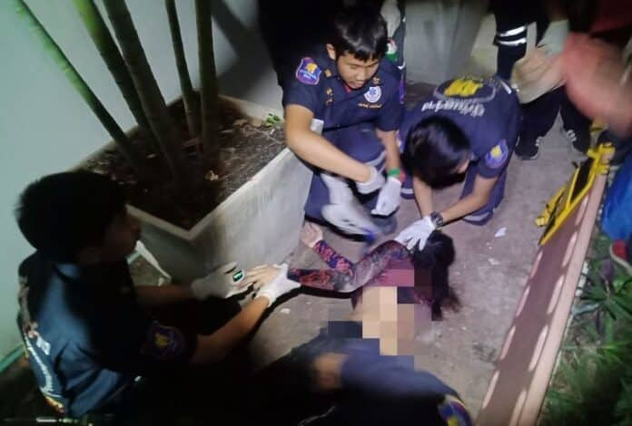 Frenchman sees Thai girlfriend fall FIVE FLOORS in Pattaya. The French boyfriend of a Surin woman who fell from a fifth floor flat in Pratumnak Hill told