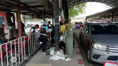 Homeless man killed near Bangkok railway station. Ahomeless man was found with his throat slit in a motorcycle park beside Hua Lamphong railway