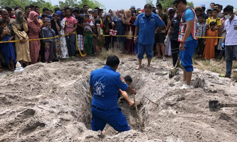 Missing Muslim teen found dead in Songkhla graveyard. A Muslim teen was found buried in a Muslim graveyard on Wednesday after he went missing on May