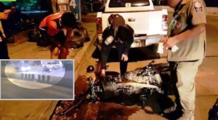 Police release video footage of FATAL CRASH in ChiangMai. Police have released video footage showing the last moments of Jan Single a German man