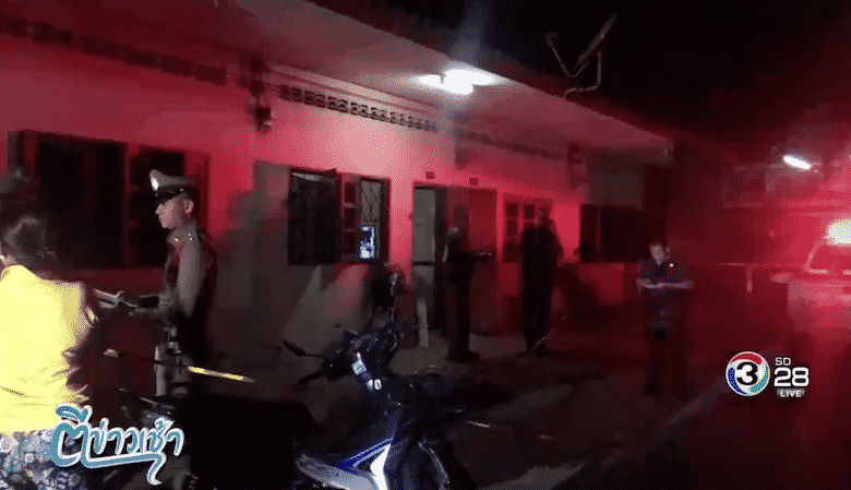 Retired policeman with five wives murdered in Nakhon Pathom. A retired policeman was murdered in a rented room with a police officer in Nakhon Pathom's