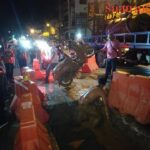 Teens seriously hurt as bike goes down Pattaya sink hole. A video on the site of Ruk Siam News showed a crane winching a motorcycle from a mud and