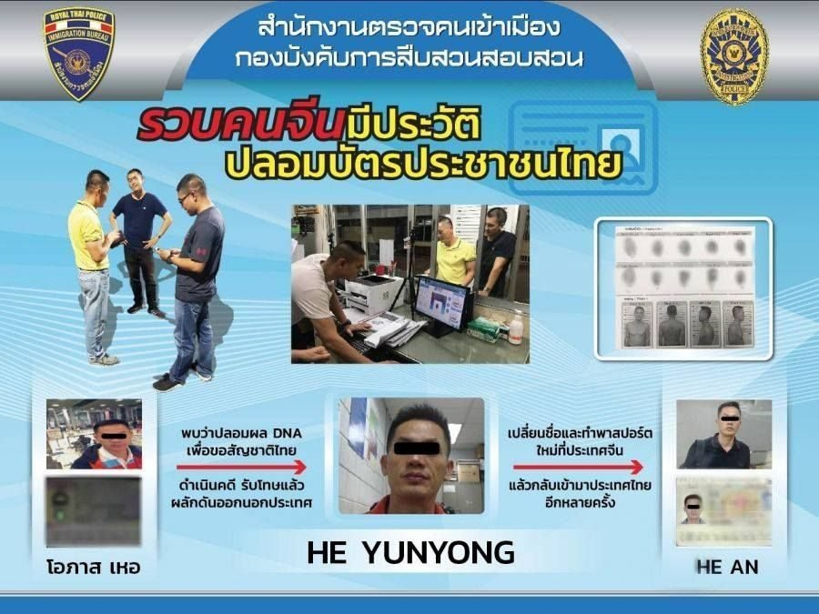 Immigration police arrest foreigners for a variety of crimes