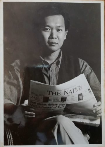 Pravit Rojanaphruk as a young reporter at The Nation in 1994