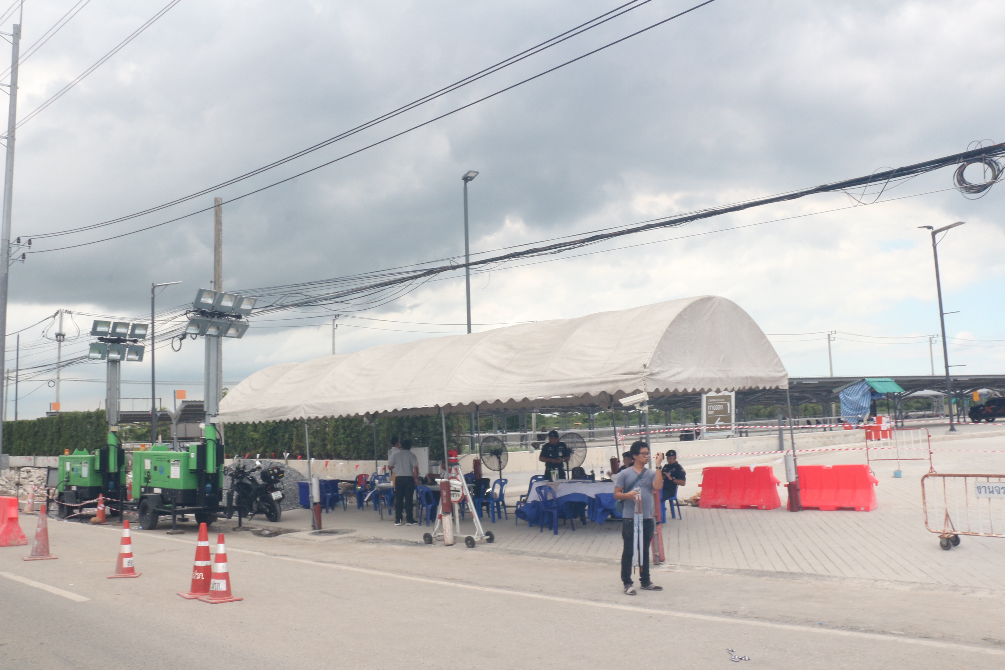 AOT's tent in front of Central Village on Aug. 29.
