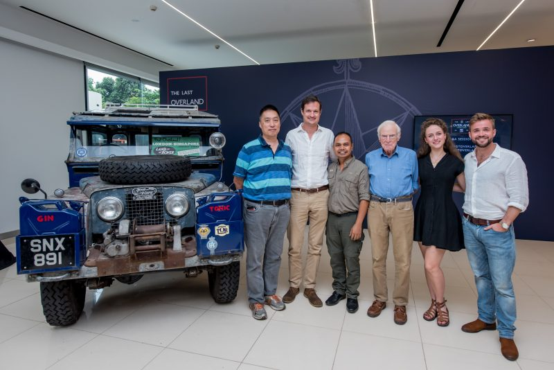 Some of the Last Overland team members (Larry Leong, Marcus Allender, Dr Silverius Purba, Tim Slessor, Thérèse-Marie Becker and Alex Bescoby) at a press conference May 30, 2019 in Singapore. Photo: Klareco Communications / Courtesy
