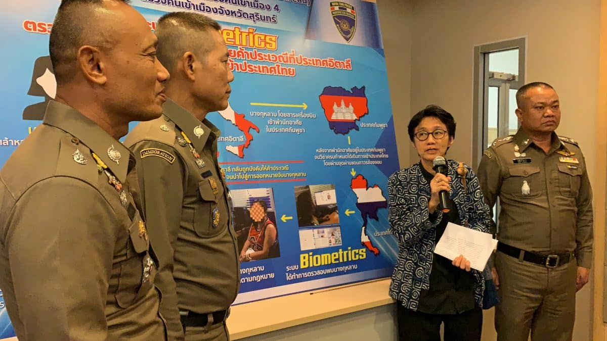 3 Foreigners and human trafficking mama arrested.