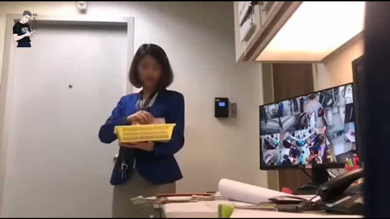 Bank Employee caught stealing customers cash on camera.