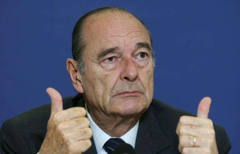 Former French president Chirac dies at 86