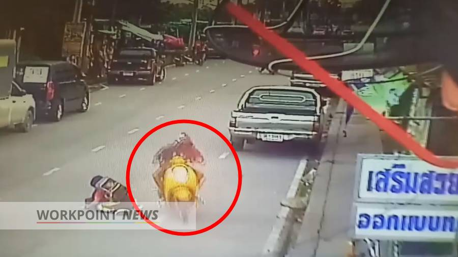 Hit and Run on 10-year-old by Motorbike driving against lane direction.