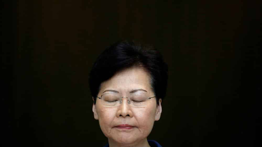 Hong Kong leader says she would 'quit' if she could, according to leaked audio