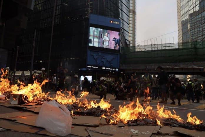 Hong Kong Police Warn Protesters to Stop Illegal Acts