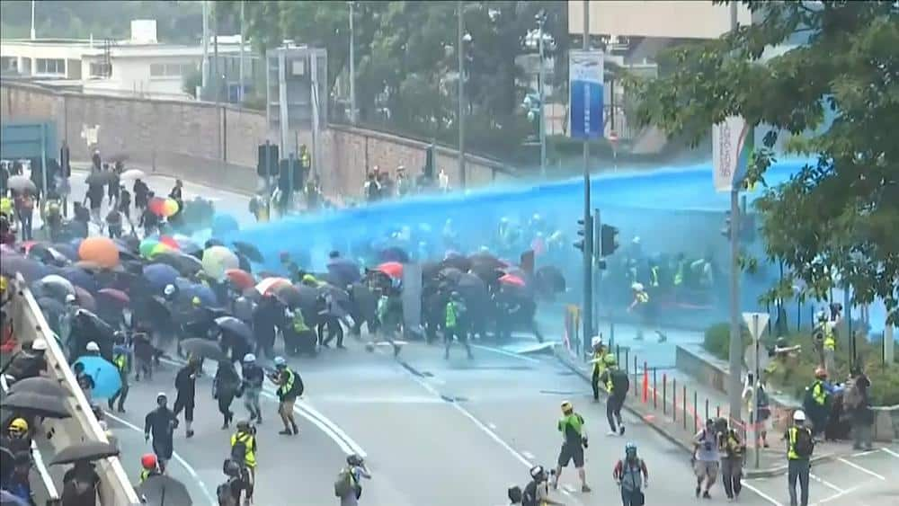 Hong Kong protests spread as China prepares to mark 70 years of communist rule